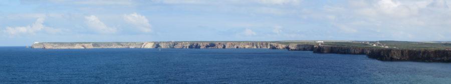 Vue sur le Cap St Vincent depuis la forteresse de Sagres
