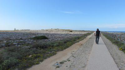 promenade d'1.5 km en bord de falaise