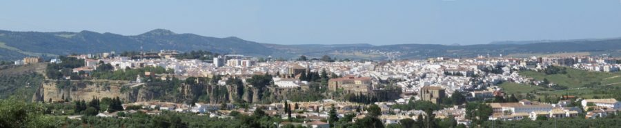 Vue sur Ronda depuis le mirador del Pino