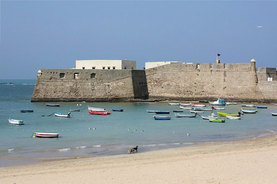 Le château Santa Catalina à Cadix