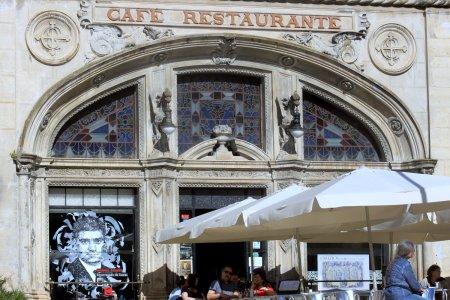 Coïmbra - Le café Santa Cruz