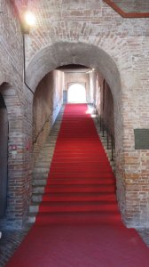 L'escalier du palais de la Ragione de Mantoue