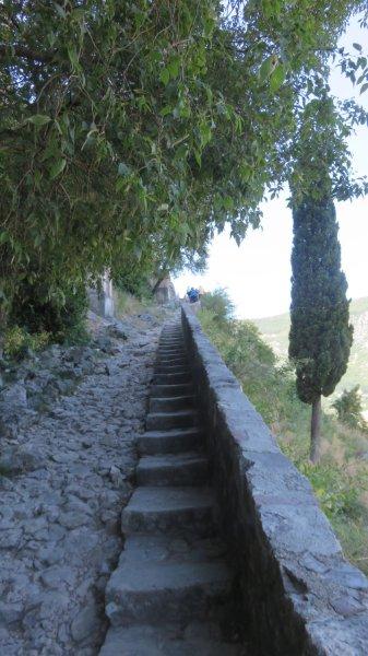 Escalade de la muraille de Kotor - Monténégro