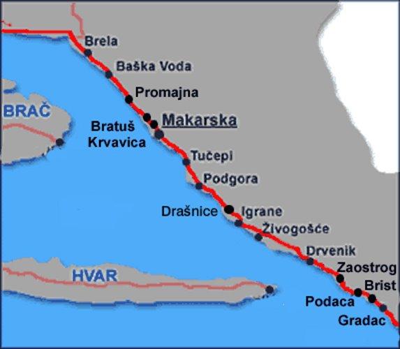 La riviera de Makarska - Croatie