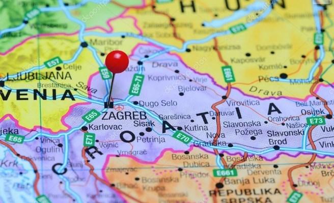Carte de Zagreb - Croatie