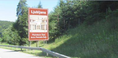 Panneau d'entrée dans Ljubljana