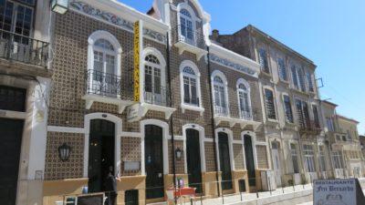 Alcobaça façades en azulejos