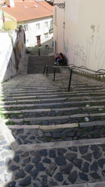 Les fameux escaliers de Lisbonne
