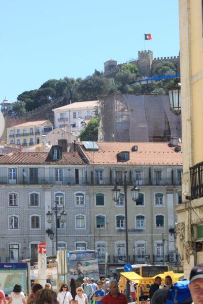 Lisbonne et les remparts du Château Sao Jorge