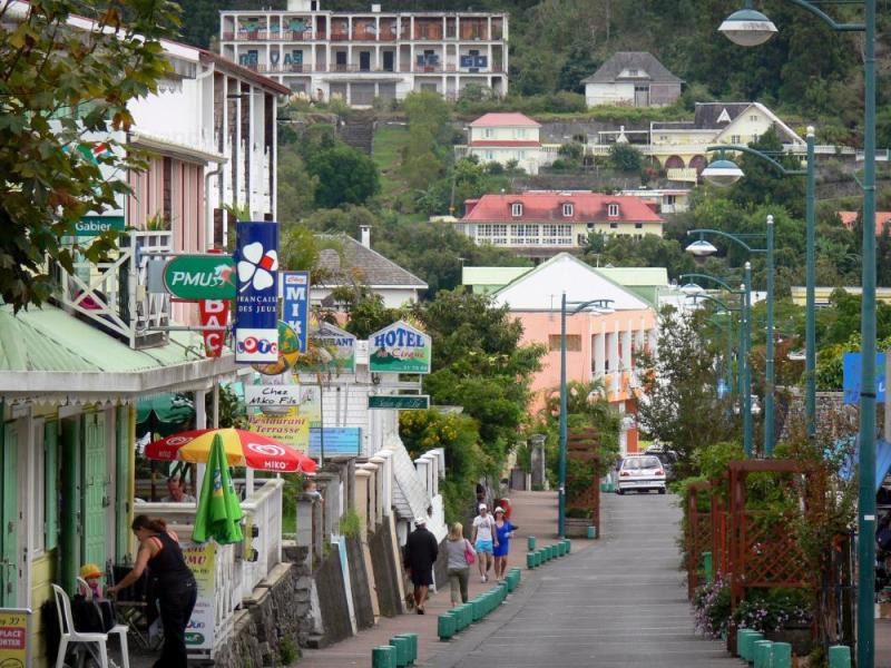 La rue principale de Cilaos - Réunion