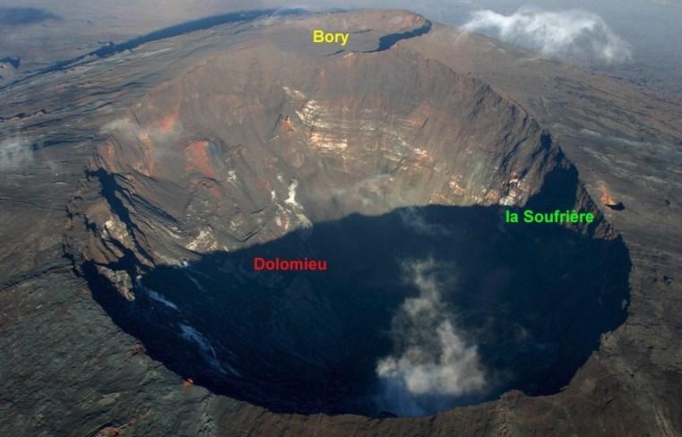 Le cratère Dolomieu et Bory