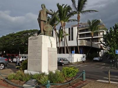 Statue de Roland Garros - St Denis (Réunion)