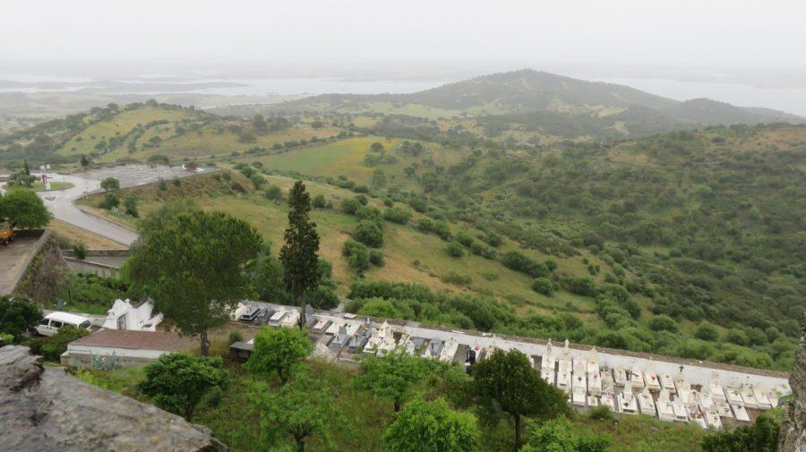 Vue sur la campagne depuis le château de Monsaraz