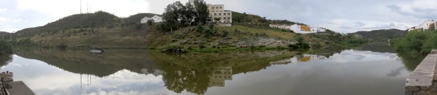 La rivière Guadiana au petit matin