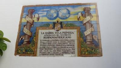 Tuile du monastère de La Rabida, la découverte de l'Amérique