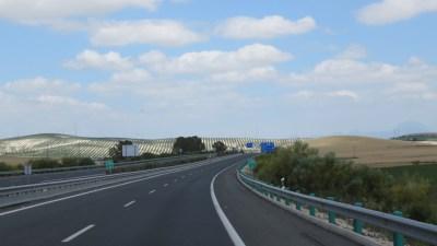 Sur la route entre Sanlucar de Barrameda et Arcos de la Frontera
