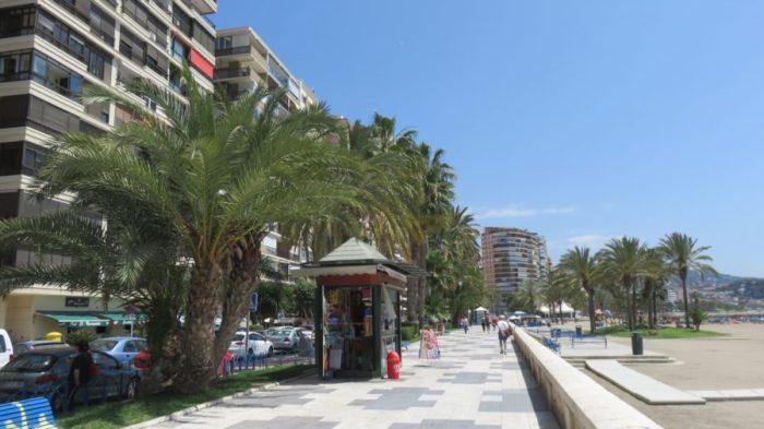 Le bord de mer de Malaga