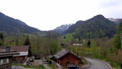 Sur la route ente Crolles et Chamonix