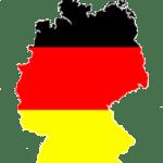 Carte - drapeau de l'Allemagne