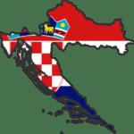 Carte-drapeau de la Croatie