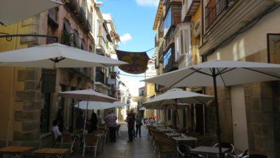 Les rues piétonnes d'Ubeda