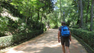 Sentier vers l'Alhambra de Grenade