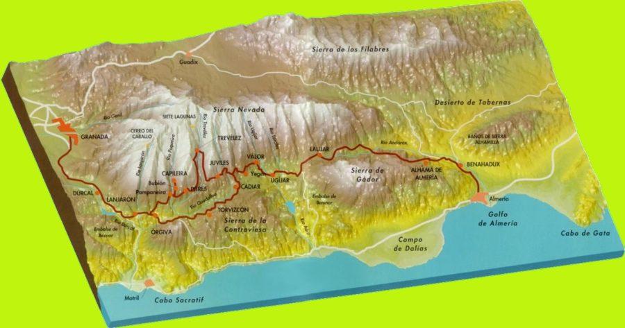 La route des Alpujarras (Espagne)