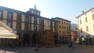 La statue de Garibaldi à Iseo