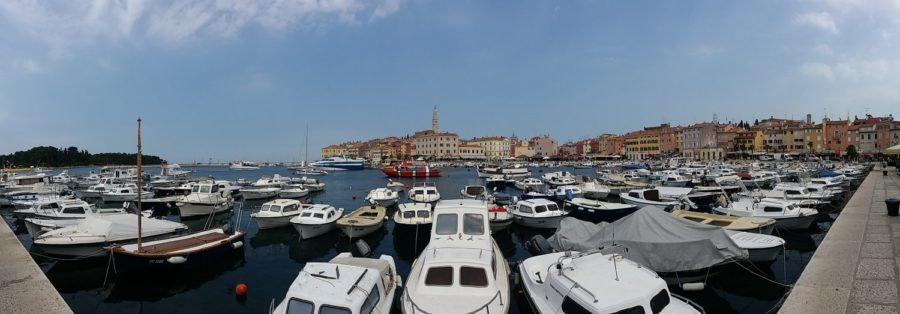 Panorama du port de Rovinj