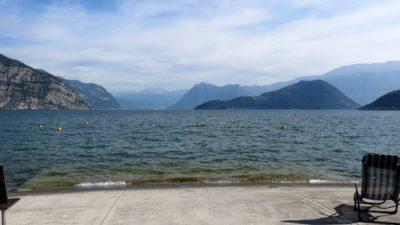 Le lac d'Iseo depuis le camping Quai