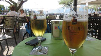 Une bonne bière sur une terrasse d'Iseo