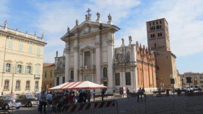 La place Sordello et le palais ducal de Mantoue
