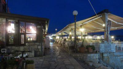 Restaurants d'Umag le soir