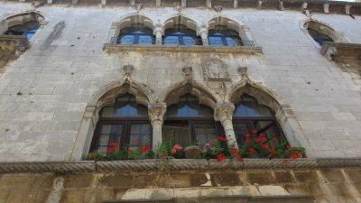 Belles façades gothiques de Porec