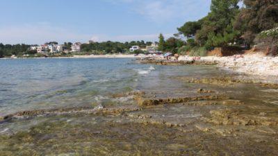 La plage du camping Arena Stoja de Pula