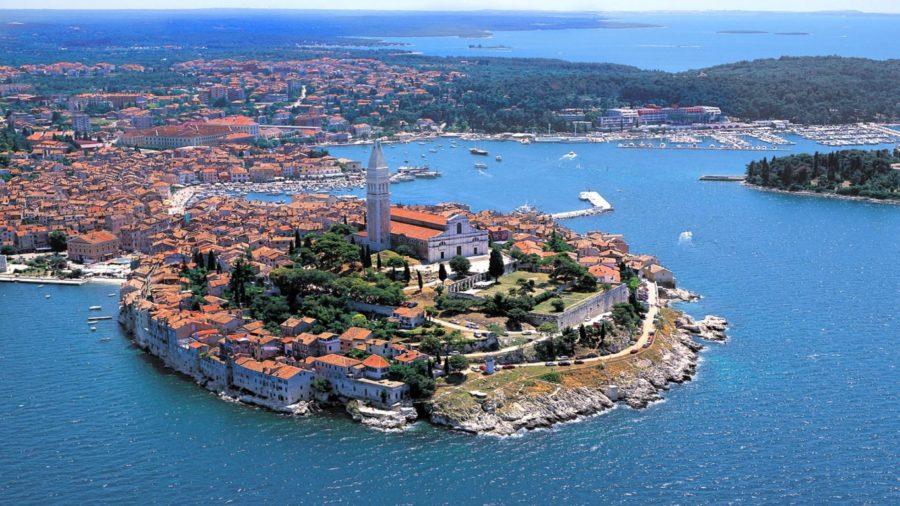 Vue aérienne de Rovinj