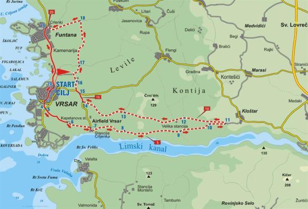 carte du Limski Kanal (Istrie)