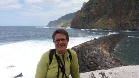 La mer agitée à Ponta Delgada - Madère