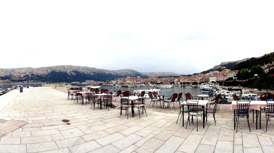 La jetée de Baska (Croatie)