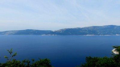 Vue sur l'Adriatique depuis l'île de Cres
