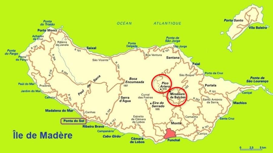 Pico do Arieiro et Miradouro dos Balcoes - Madère