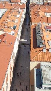 Vue sur la vieille ville de Zadar depuis la tour de la cathédrale Ste Anastasie