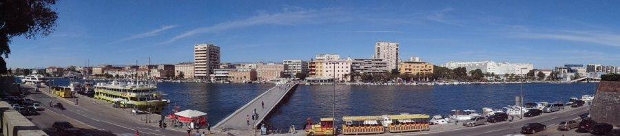 Vue sur Zadar et le Most Bridge