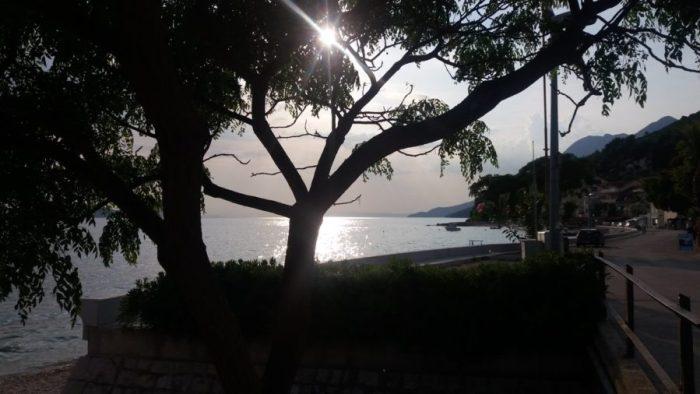 Coucher de soleil sur Zaostrog - Croatie