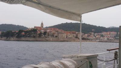 Arrivée à Korcula - Croatie