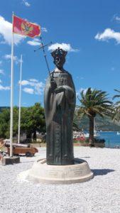Statue du roi Tvrtko I - Herceg Novi (Monténégro)i