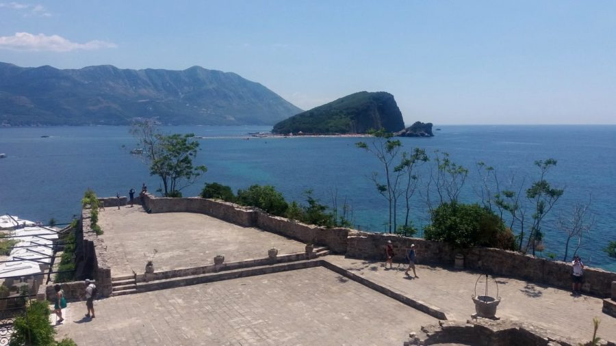 Vue sur la mer depuis les remparts de la citadelle de Budva - Monténégro