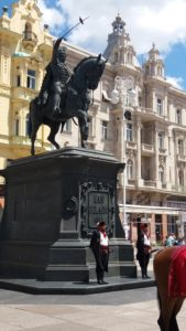 La statue de Josip Jelacic - Zagreb