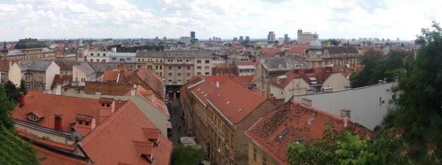 Vue sur la ville depuis la tour panoramique de Lotrscak - Zagreb