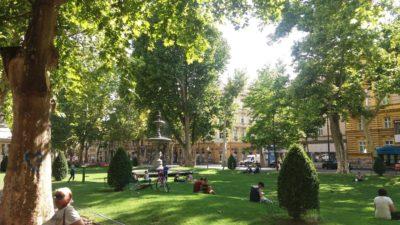 Le parc de Zrinjevac - Zagreb